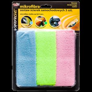 Комплект микрофибърни кърпи – 3 вида