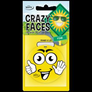 Ароматизатор Crazy Faces емотикон висящ Tasotti