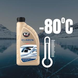 Зимна течност за чистачки -80°C K2 CLAREN Perfect