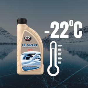 Зимна течност за чистачки -22°C K2 CLAREN Perfect