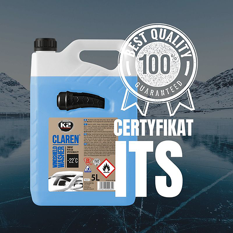 K625 K2 CLAREN Windshield washer fluid -22°C 5L зимна течност за чистачки готова за употреба