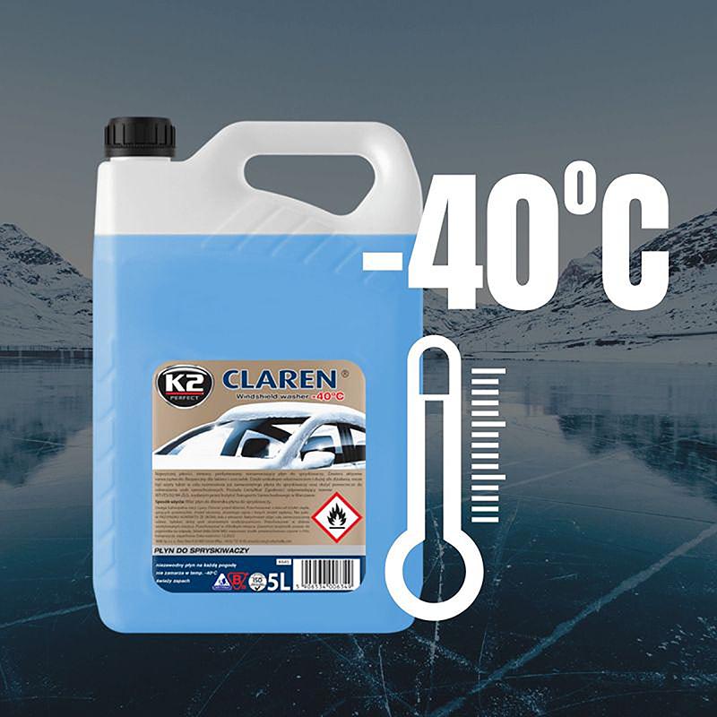 K645 K2 CLAREN Windshield washer fluid -40°C 5L зимна течност за чистачки готова за употреба
