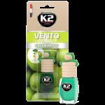 V451 K2 VENTO Air Freshenner Green Apple 8ml ароматизатор Vento Vinci Зелена ябълка бутилка