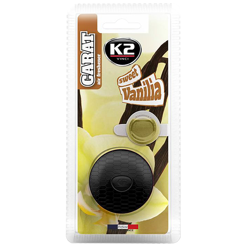 V510D K2 CARAT Air Freshenner Sweet Vanilla 2 x 2.7ml ароматизатор за вентилационната решетка Сладка ванилия