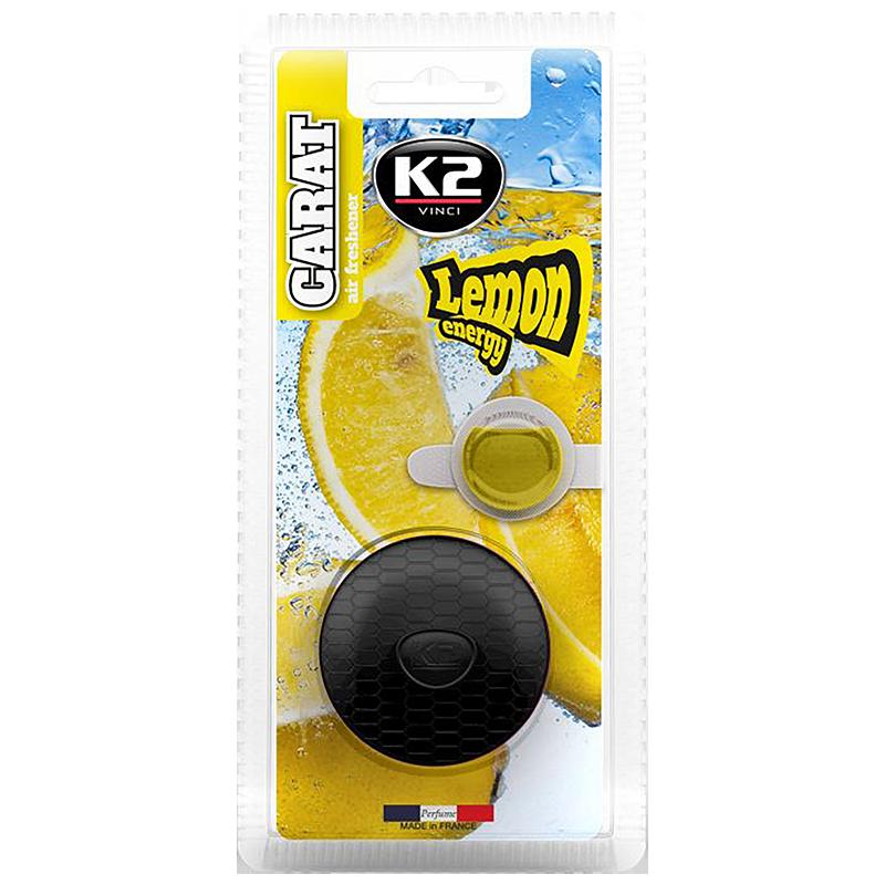 V530D K2 CARAT Air Freshenner Lemon Energy 2 x 2.7ml ароматизатор за вентилационната решетка Лимонова енергия