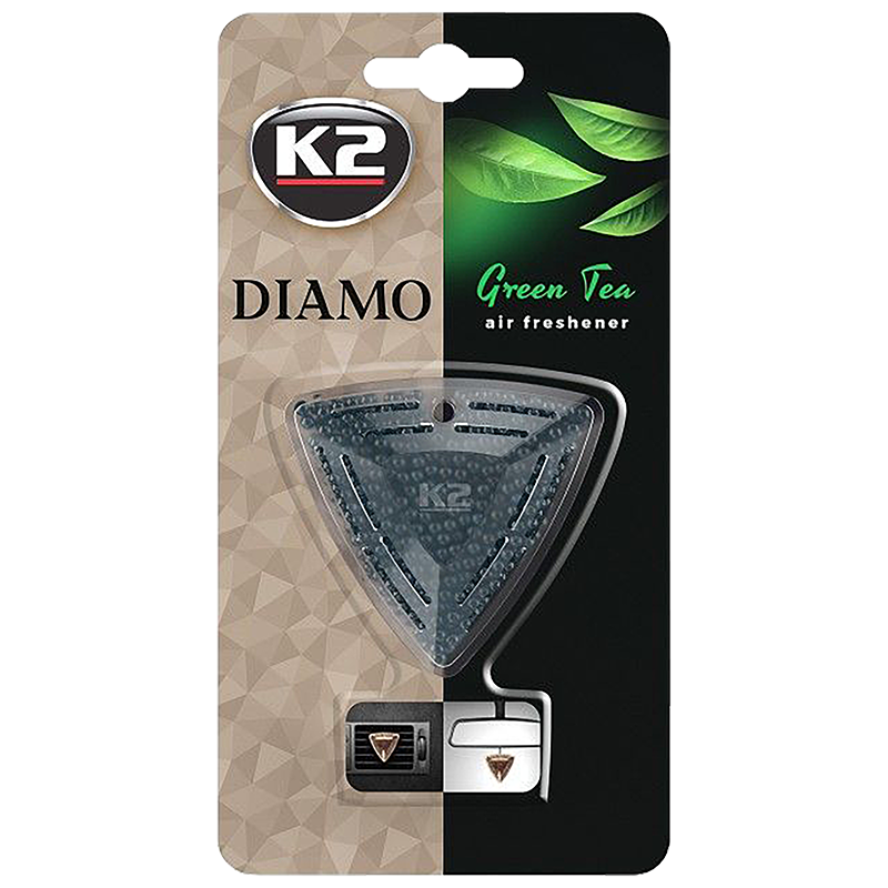 V88ZHE K2 DIAMO Air Freshenner Green Tea 15g ароматизатор скъпоценен камък кристали висящ вентилационна решетка Зелен чай