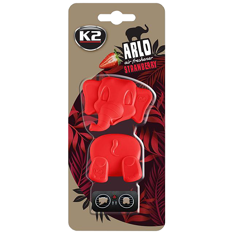 V89TRU K2 ARLO Air Freshenner Strawberry 15g цветно слонче 2 части ароматизатор вентилационна решетка Ягода