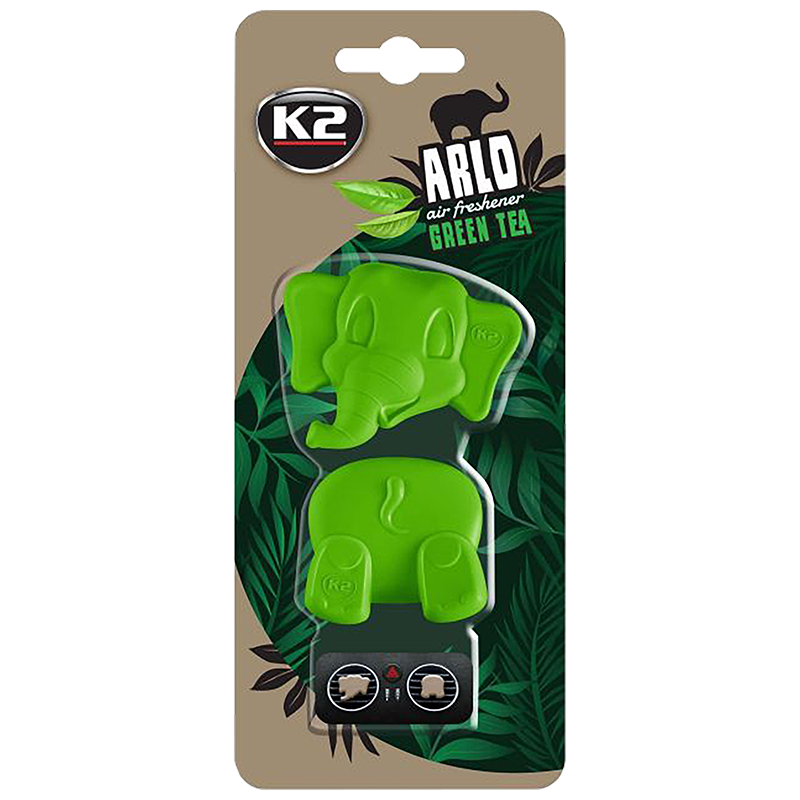 V89ZHE K2 ARLO Air Freshenner Green Tea 15g цветно слонче 2 части ароматизатор вентилационна решетка Зелен чай
